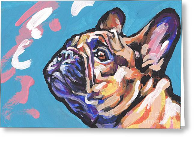 Bulldog Pet Portraits Greeting Cards - Little French Fry Greeting Card by Lea