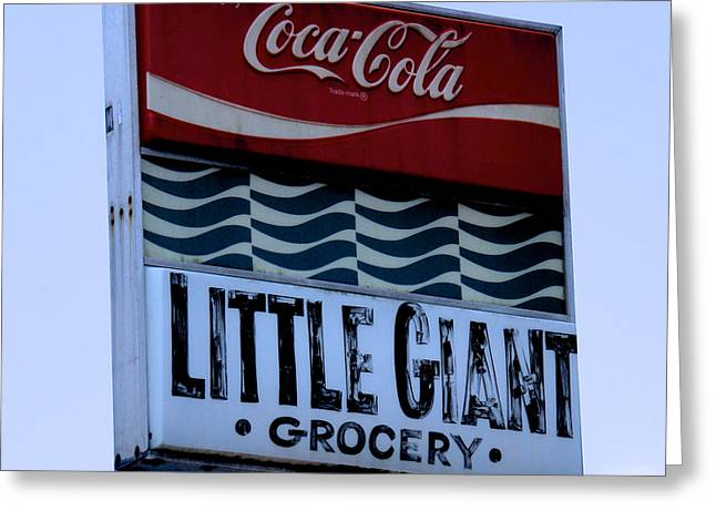 Grocery Store Greeting Cards - Little Giant Grocery Greeting Card by Brandon Addis