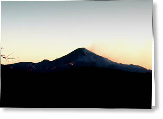 Prescott Greeting Cards - Little Granite Mountain Spot Fires Greeting Card by Aaron Burrows