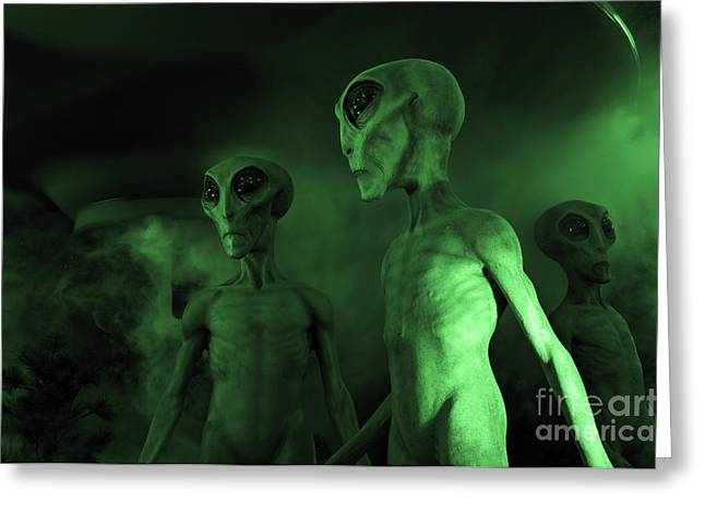Photo Calendars Greeting Cards - Little Green Men Roswell Greeting Card by Bob Christopher