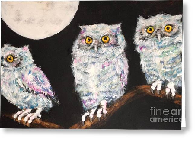 Awesome Pastels Greeting Cards - Little Hooters Greeting Card by Rachel  Jones