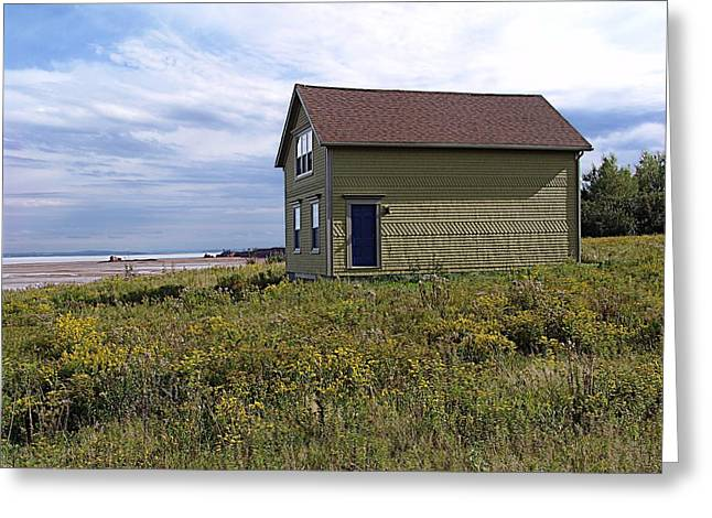 Minas Basin Greeting Cards - Little House By The Sea Greeting Card by Janet Ashworth