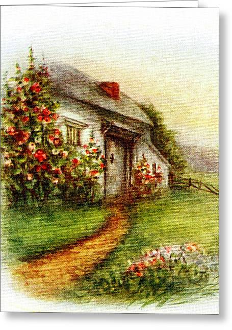 Christmas Greeting Photographs Greeting Cards - Little House Greeting Card by Munir Alawi