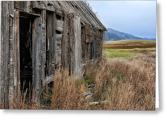 Outlook Greeting Cards - Little House on the High Plains Greeting Card by Kathleen Bishop