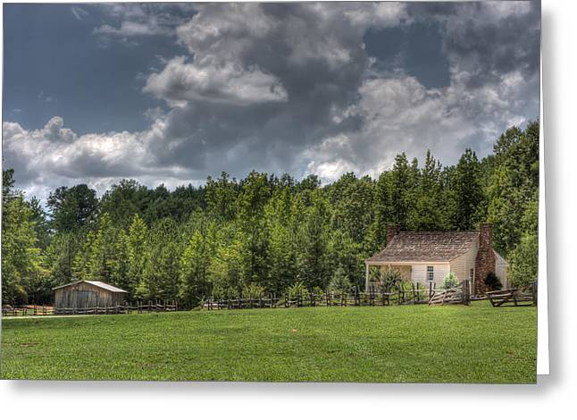 Barn In Woods Photographs Greeting Cards - Little House on the Prairie  Greeting Card by Gerald Adams