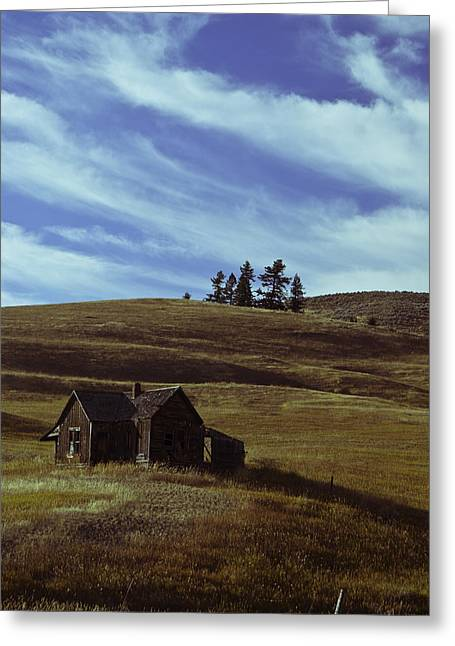 Old Relics Photographs Greeting Cards - Little house on the prairie Greeting Card by Justin  Curry