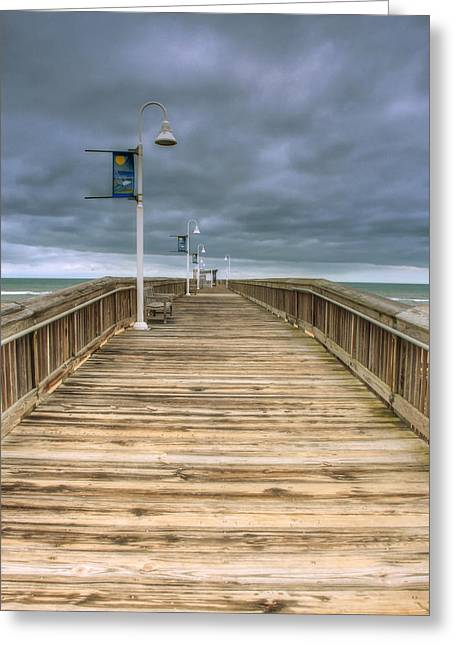 Recently Sold -  - Bay Bridge Greeting Cards - Little Island Pier Greeting Card by Pete Federico