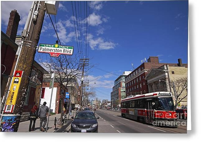 College Street Greeting Cards - Little Italy 1 Palmerston Blvd Greeting Card by Charline Xia