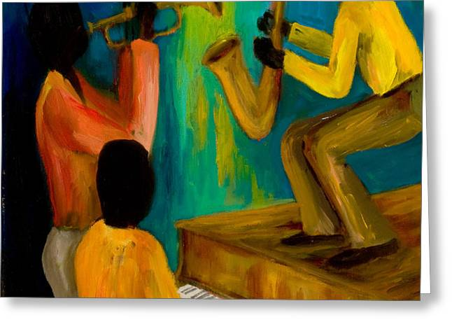 Little Jazz Trio I Greeting Card by Larry Martin