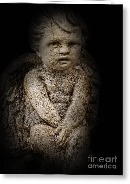Condolences Greeting Cards - Little Lost Angel Greeting Card by Lee Dos Santos