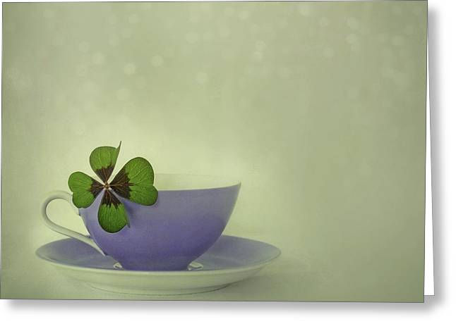 Lucky Photographs Greeting Cards - Little Luck Greeting Card by Priska Wettstein