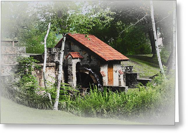 Radnor Greeting Cards - Little Mill Eastern State College - Faded Greeting Card by Bill Cannon