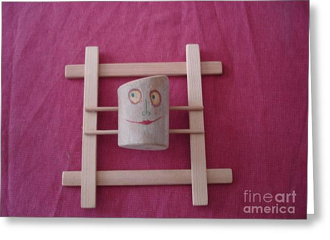 Smile Sculptures Greeting Cards - Little Mona Lisa Greeting Card by Nikolay Ilchevski