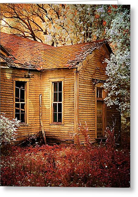 Julie Dant Greeting Cards - Little Old School House II Greeting Card by Julie Dant