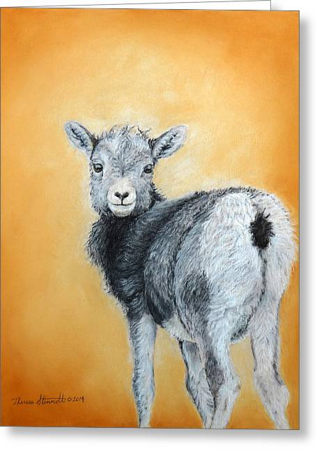 Horns Pastels Greeting Cards - Little One Greeting Card by Theresa Stinnett