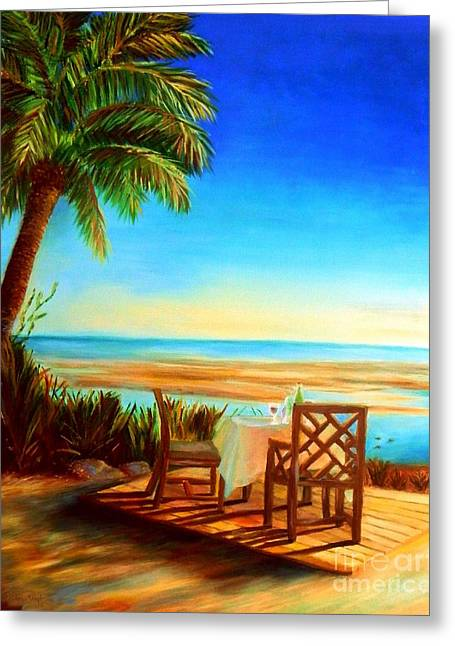 Fine Dining Prints Greeting Cards - Little Palm Island - Little Torch Key Greeting Card by Shelia Kempf