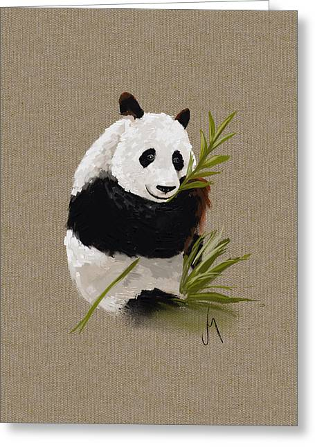 Wildlife Digital Art Greeting Cards - Little panda Greeting Card by Veronica Minozzi