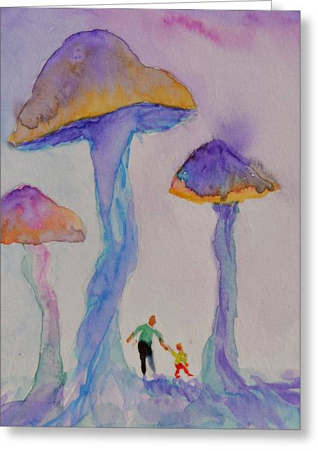 Little People Greeting Card by Beverley Harper Tinsley