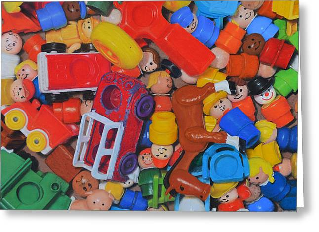 Little Peoples Greeting Card by Joanne Grant