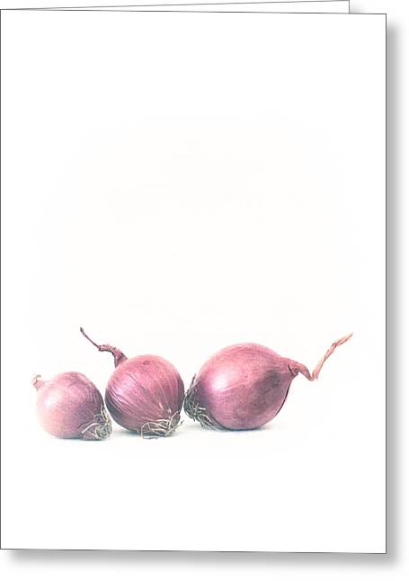 Pickling Greeting Cards - Little Pickling Purple Onions Greeting Card by Constance Fein Harding