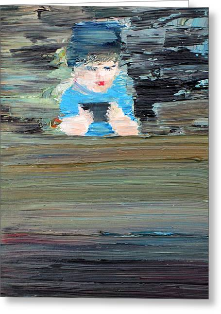 Consoling Paintings Greeting Cards - Little Player Greeting Card by Fabrizio Cassetta