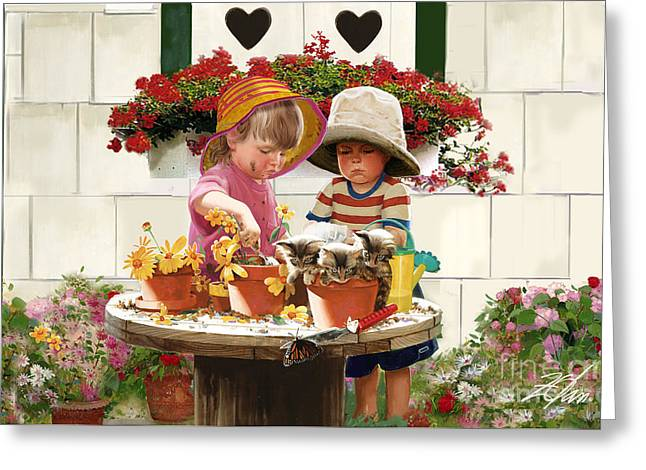Country Shed Greeting Cards - Little Potters Greeting Card by Donald Zolan
