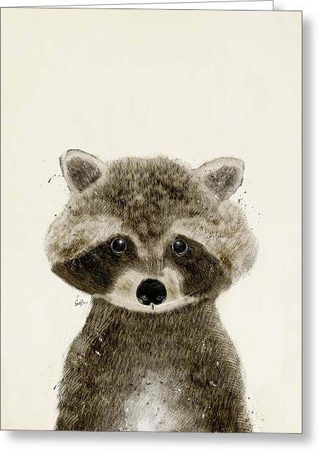 Little Raccoon Greeting Card by Bri B