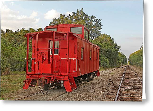 Little Red Caboose 2 Greeting Card by HH Photography of Florida