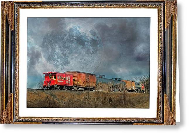 Fog Mixed Media Greeting Cards - Little Red Caboose  Greeting Card by Betsy C  Knapp