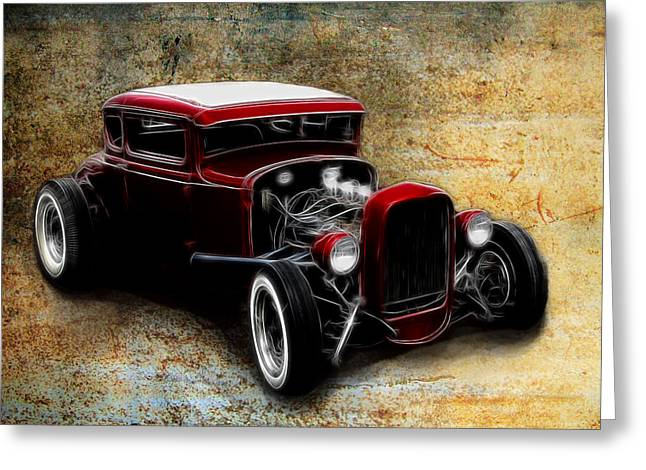 Graffitti Coupe Greeting Cards - Little Red Coupe Greeting Card by Steve McKinzie