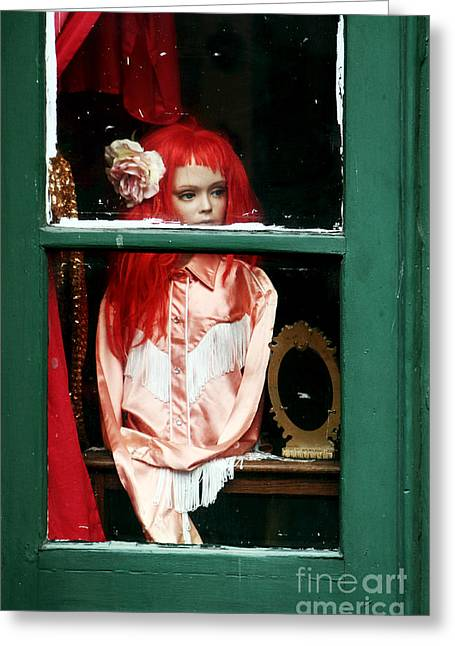 Little Red-haired Girl Greeting Card by John Rizzuto
