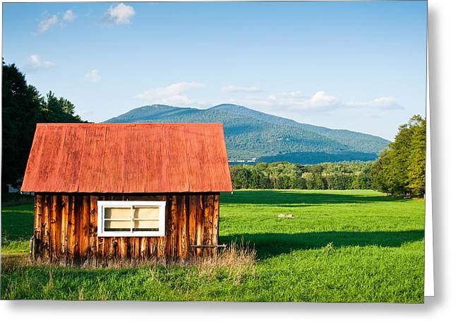 Lee Costa Greeting Cards - Little Red House Greeting Card by Lee Costa