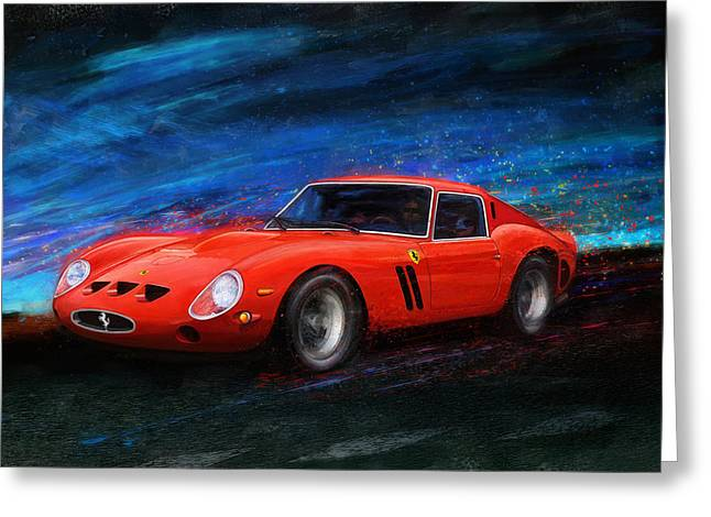 Ferrari 250 Gto Greeting Cards - Little Red In The Hood Greeting Card by Alan Greene