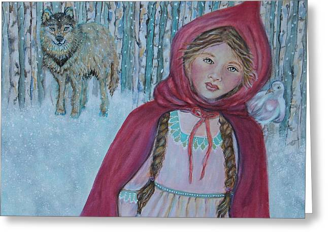 The Art With A Heart Greeting Cards - Little Red Riding Hood Greeting Card by The Art With A Heart By Charlotte Phillips