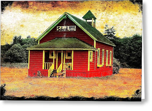 Red School House Greeting Cards - Little Red School House 2 Greeting Card by Richard J Cassato