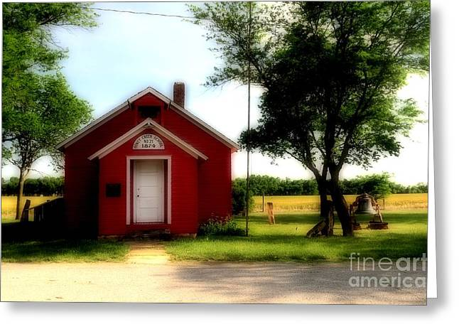 Little Red School House Greeting Card by Kathleen Struckle