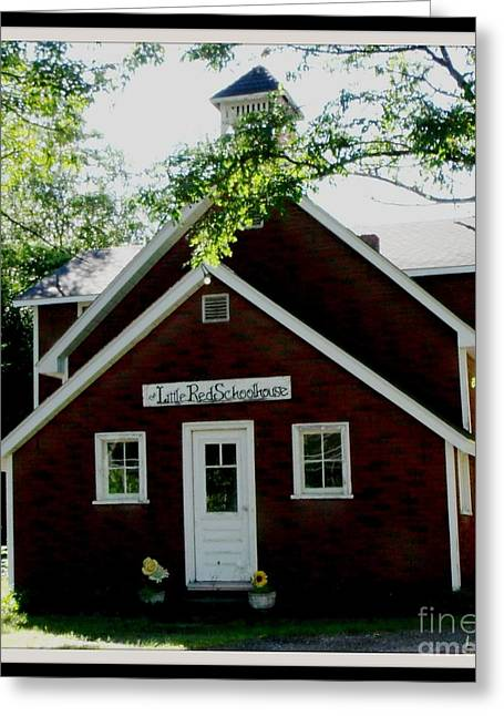 Little Red Schoolhouse Greeting Card by Gail Matthews