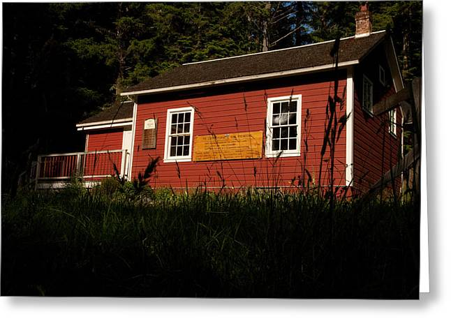 Red School House Greeting Cards - Little Red Greeting Card by Wendy A Rosier