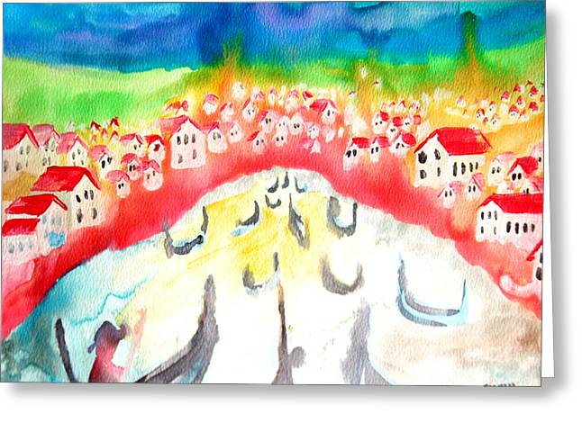 Little Red River Paintings Greeting Cards - Little River Greeting Card by Amy Sorrell