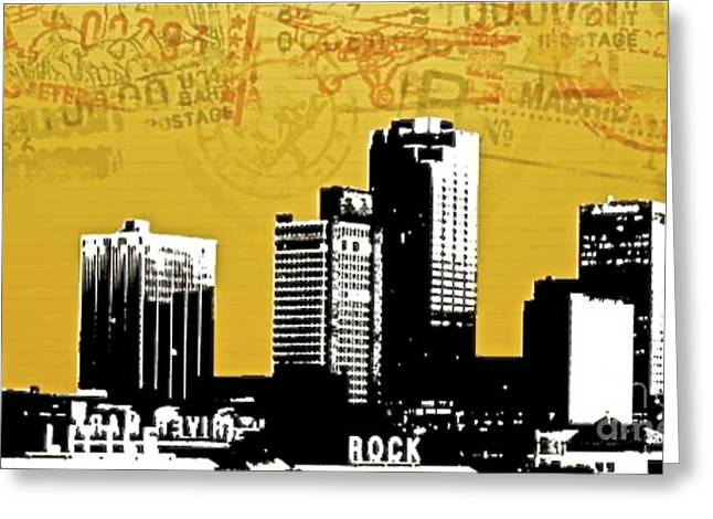 Restaurant On Top Greeting Cards - Little Rock Post Card - 72201 Greeting Card by Joe Finney