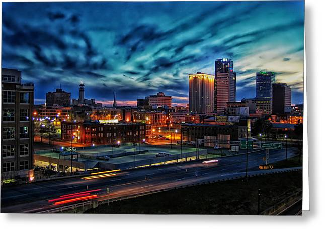 Little Rock Greeting Cards - Little Rock Sunset Greeting Card by Bruce Stracener