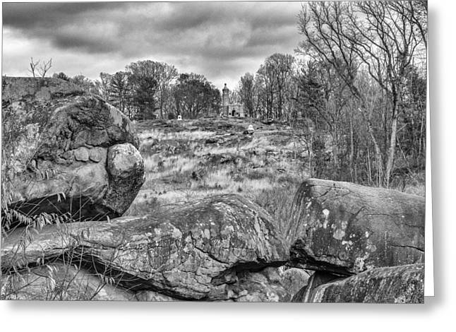 Devils Den Greeting Cards - Little Round Top Greeting Card by Frank Burnside
