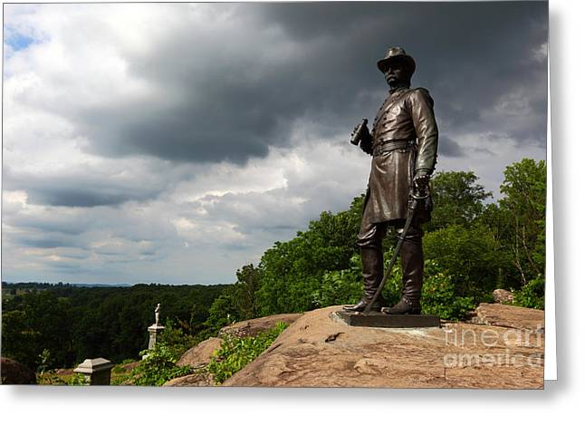 Civil War Site Greeting Cards - Little Round Top Hill Gettysburg Greeting Card by James Brunker