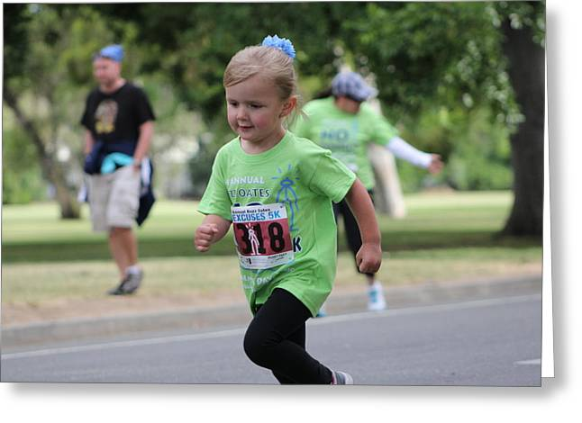 Excuse Greeting Cards - Little Runner Greeting Card by Randy Wehner Photography