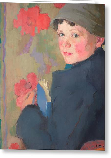 Book Jacket Greeting Cards - Little Schoolboy of Bonmahon Greeting Card by Edith Collier