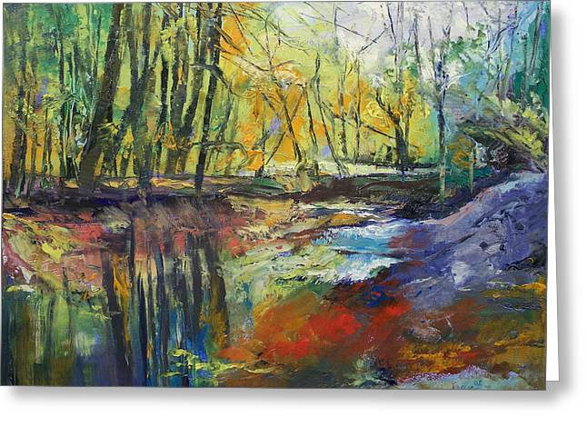 Little Sewickley Creek Greeting Card by Michael Creese