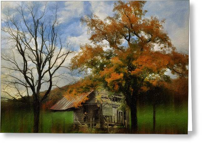 Shed Greeting Cards - Little Shed Greeting Card by Kathy Jennings