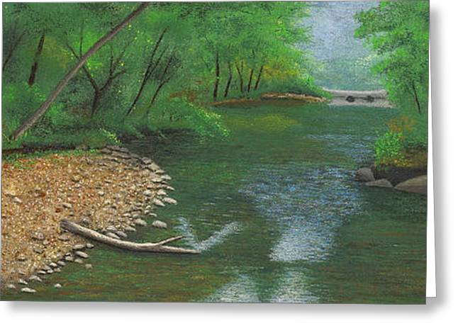 Bridge Pastels Greeting Cards - Little Shoal Creek Greeting Card by Garry McMichael