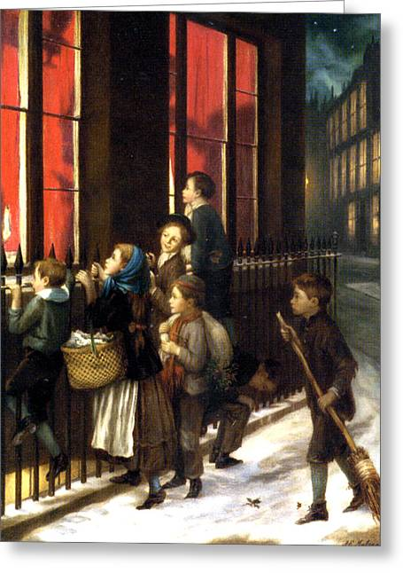Edwin A Greeting Cards - Little Spies Greeting Card by Augustus Edwin Mulready