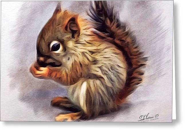 Digital Designs Greeting Cards - Little Squirrel  Greeting Card by Scott Wallace
